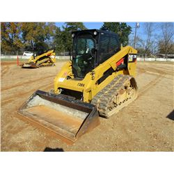 2015 CAT 279D SKID STEER LOADER, VIN/SN:GTL01796 - TWO SPEED, CRAWLER, BUCKET, CAB, A/T, METER READI