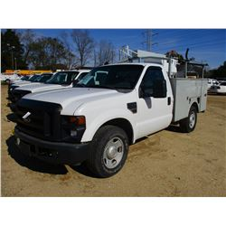 2008 FORD F350 SERVICE TRUCK, VIN/SN:1FTWF30598EA26990 - V8 GAS ENGINE, A/T, STEELWELD TOOL BODY, RA