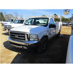 2002 FORD F250 SERVICE TRUCK, VIN/SN:1FTNF20F72EA38125 - S/A, POWER STROKE DIESEL ENGINE, A/T, TOOL