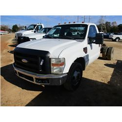 2009 FORD F350 CAB & CHASSIS, VIN/SN:1FDWF36R29EA00321 - POWERSTROKE DIESEL, A/T, ODOMETER READING 1