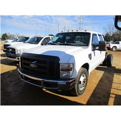 2009 FORD F350 CAB & CHASSIS, VIN/SN:1FTWW32R39EB14015 - CREW CAB, POWERSTROKE, A/T, ODOMETER READIN