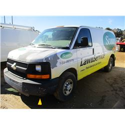 2005 CHEVROLET 3500 CARGO VAN, VIN/SN:1GCHG35U751235802 - GAS ENGINE, A/T, ODOMETER READING 134,428