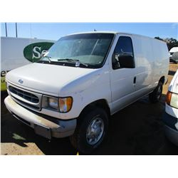 1999 FORD E350 CARGO VAN, VIN/SN:1FTSE34L6XHC25289 - GAS ENGINE, A/T, ODOMETER READING 251,987 MILES