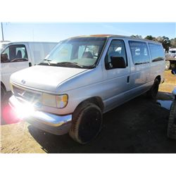 1996 FORD CLUB WAGON VAN, VIN/SN:1FMEE11H7THB20252 - GAS ENGINE, A/T, 12-PASSENGER, ODOMETER READING