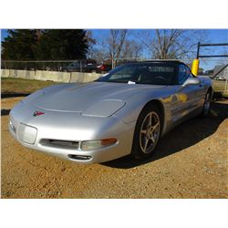 2002 CHEVROLET CORVETTE VIN/SN:1G1YY32G225106522 - V8 GAS ENGINE, A/T, ODOMETER READING 173,140 MILE
