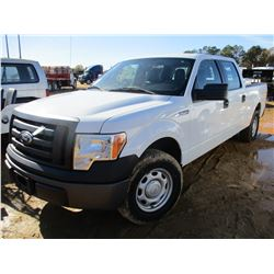 2011 FORD F150 PICKUP, VIN/SN:1FTFW1CF4BFB28594 - CREW CAB, GAS ENGINE, A/T, ODOMETER READING 169,79