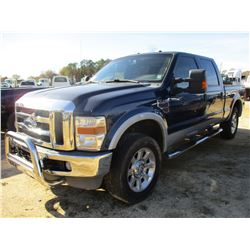 2008 FORD F250 PICK UP, VIN/SN:1FTSW21R48ED87392 - 4X4, CREW CAB, POWERSTROKE DIESEL ENGINE, A/T, OD