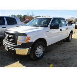 2013 FORD F150XL PICK UP, VIN/SN:1FTFW1EF1DKF07866 - 4X4, CREW CAB, GAS ENGINE, A/T, ODOMETER READIN