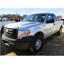 2011 FORD F150 XL PICK UP, VIN/SN:1FTFX1EF5BFB73425 - 4X4, EXT CAB, GAS ENGINE, A/T, ODOMETER READIN
