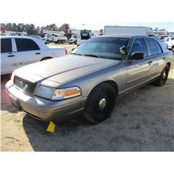 2006 FORD CROWN VICTORIA VIN/SN:2FAFP71W96X124771 - V8 GAS ENGINE, A/T (COUNTY OWNED)