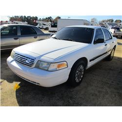 2006 FORD CROWN VICTORIA VIN/SN:2FAFP73V66X113831 - V8 GAS ENGINE, A/T (COUNTY OWNED)