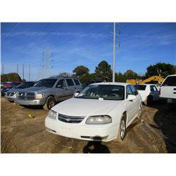 2005 CHEVROLET IMPALA VIN/SN:2G1WH52K759384699 - GAS ENGINE, A/T, ODOMETER READING 210,622 MILES