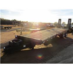 TAG TRAILER, - 30' LENGTH, DOVETAIL, RAMPS, PINTLE HITCH (BILL OF SALE ONLY)