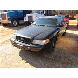 2008 FORD CROWN VICTORIA VIN/SN:2FAFP71V18X180374 - GAS ENGINE, A/T (DOES NOT OPERATE) (COUNTY OWNED
