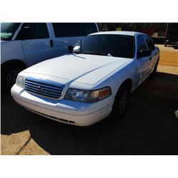 2004 FORD CROWN VICTORIA VIN/SN:2FAFP73W74X127954 - GAS ENGINE, A/T (DOES NOT OPERATE) (COUNTY OWNED