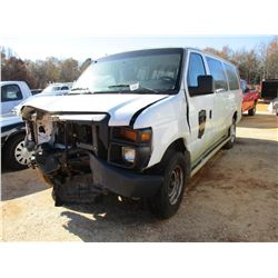2009 FORD E350 PASSENGER VAN, VIN/SN:1FB5531L79DA27509 - GAS ENGINE, A/T, WRECKED (DOES NOT OPERATE)