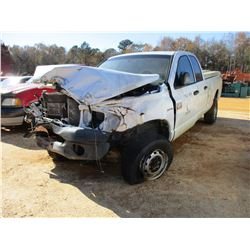 2009 DODGE RAM 2500 PICKUP, VIN/SN:3D7K528TX9G559440 - 4X4, WRECKED (DOES NOT OPERATE) (COUNTY OWNED