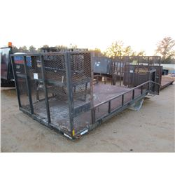 16' LANDSCAPING TRUCK BED, 4' DOVE TAIL, RAMP, FOLD DOWN SIDES (A-1)