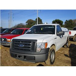 2010 FORD F150 XL PICK UP, VIN/SN:1FTMF1CWXAKE78955 - GAS ENGINE, A/T, BED COVER, ODOMETER READING 2