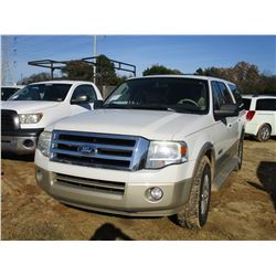 2008 FORD EXPEDITION SUV, VIN/SN:1FMFK175081A41908 - GAS ENGINE, ODOMETER READING 166,948 MILES