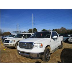 2007 FORD F150 XL PICK UP, VIN/SN:1FTPX14V27FA82097 - 4X4, EXENDED CAB, GAS ENGINE, A/T, ODOMETER RE