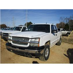 2003 CHEVROLET 1500 Z71 PICK UP, VIN/SN:2GCEK19T531184850 - 4X4, EXTENDED CAB, GAS ENGINE, A/T