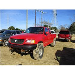 2002 FORD F150 PICK UP, VIN/SN:1FTRX18L52NB04240 - 4X4, EXTENDED CAB, V8 GAS ENGINE, A/T, ODOMETER R
