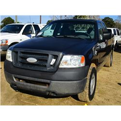 2006 FORD F150 PICK UP, VIN/SN:1FTRX14WX6NB26854 - 4X4, EXTENDED CAB, GAS ENGINE, A/T, ODOMETER READ