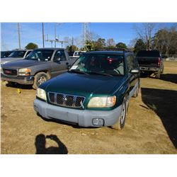 2001 SUBARU FORESTER VIN/SN:JF1SF63501H765140 - GAS ENGINE, A/T, ODOMETER READING 118,583 MILES