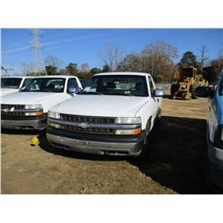 2001 CHEVROLET 1500 PICKUP, VIN/SN:1GCEC14T31Z275981 - GAS ENGINE, A/T, ODOMETER READING 158,950 MIL