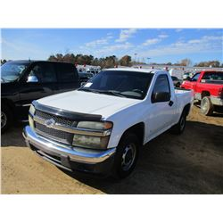 2007 CHEVROLET S10 PICKUP, VIN/SN:1GCCS149878126687 - GAS ENGINE, A/T, ODOMETER READING 167,486 MILE