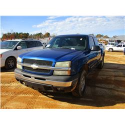 2003 CHEVROLET Z71 PICKUP, VIN/SN:1GCEK19T03Z244833 4X4, EXT CAB, V8 GAS, A/T, ODOMETER READING 298,