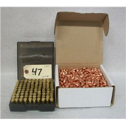 BOX LOT RELOADING 9MM LUGER