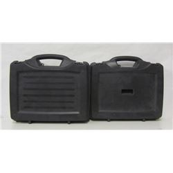 TWO LARGE HARD PLASTIC PISTOL CASES