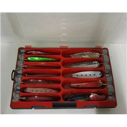BAIT BOX OF NASTY BOYS AND LARGE SPOON LURES