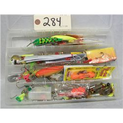 BOX LOT OF FISHING TACKLE