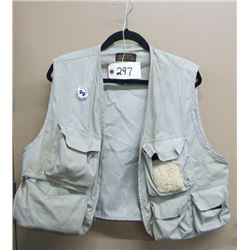 FISHING VEST WITH SOME TACKLE