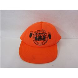 LOT OF BLAZE ORANGE HATS AND TOOKS