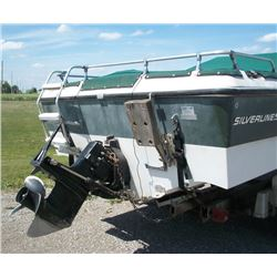 "18' 6"" SILVERLINE BOAT MOTOR AND TRAILER PACKAGE"