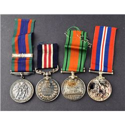 Canada, WWII, French Canadian, lot 4 medals