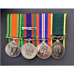 Group of four to French Canadian Officer World War II