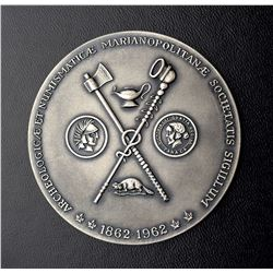 Society Archeologica & Numismatica medal offered to 1st Minister Jean Lesage