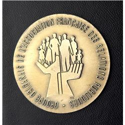 Medal of the French Public Relations Association of Orléans offered to Jean Lesage