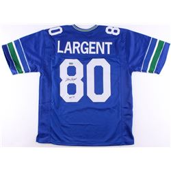 Steve Largent Signed Seahawks Jersey Inscribed