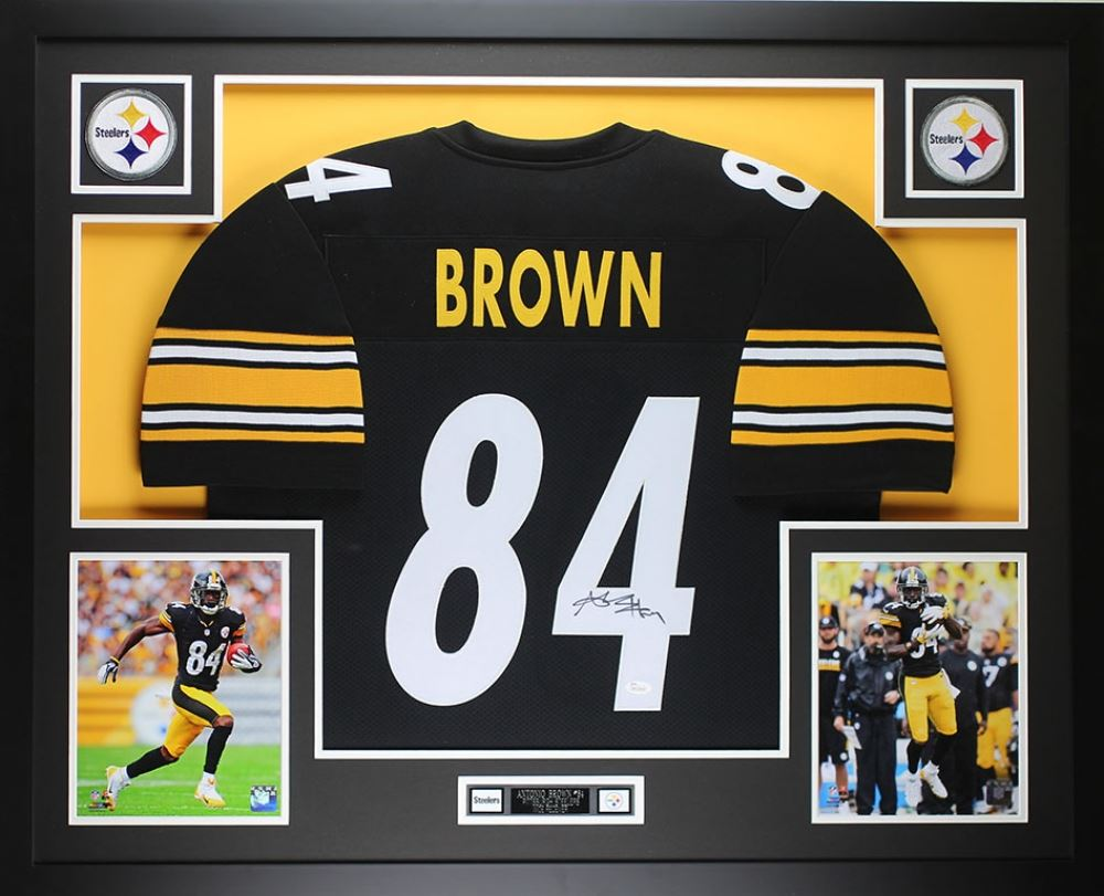 Image 1   Antonio Brown Signed Steelers 35x43 Custom Framed Jersey (JSA COA) 9db447185