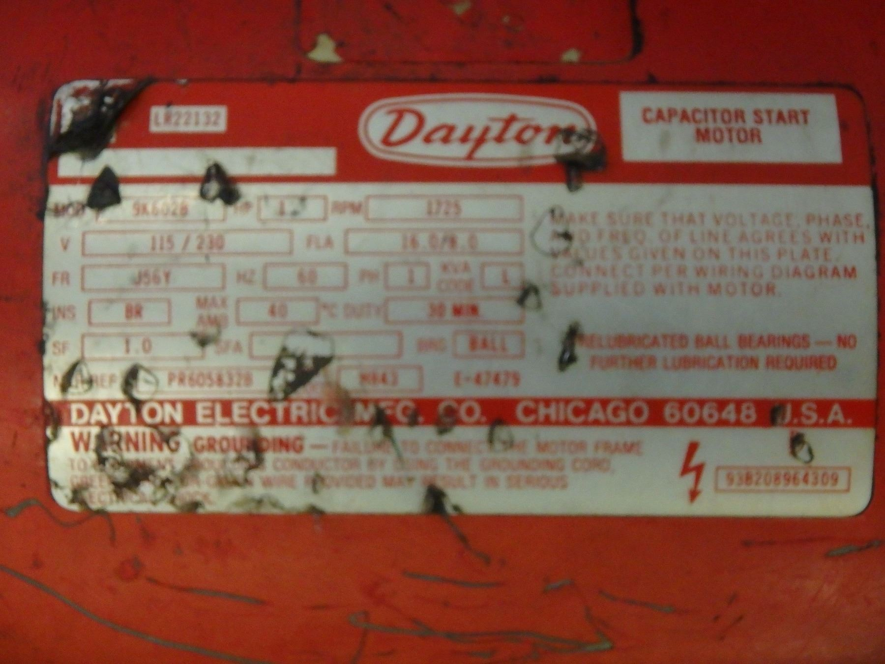 Dayton 2 Ton Electric Chain Hoist M N Not Readable With Hp Motor Wiring Diagram Besides Image 4