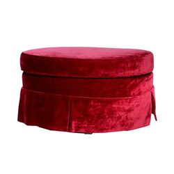 Burgundy Oval Ottoman from Jesse Tyler Birthday