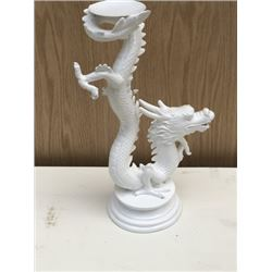 White Dragon Candle Holder