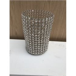Large Glass Bead Candle Holder