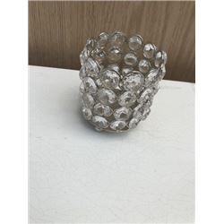 Small Glass Bead Candle Holder